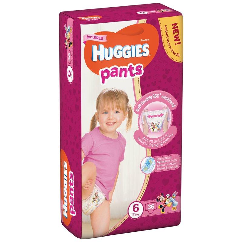 Scutece-chilotel Huggies Mega Pants (nr 6) Girl 36 buc 15-25 kg din categoria Scutece bebelusi de la Huggies