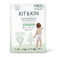 Kit&Kin - Scutec Hipoalergenic Eco Pull Up Maxi 22 buc, De unica folosinta, 9-15 kg, nr4+