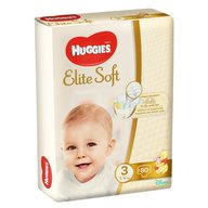 Huggies - Elite Soft (nr 3) Mega 80 buc, 5-9 kg