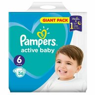 Pampers - Scutece Active Baby 6, Giant Pack, 56 buc