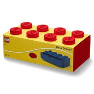 Lego - Cutie depozitare Sertar de birou 2x4  Rosu
