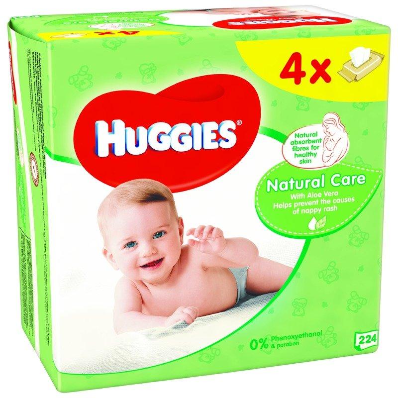 Servetele umede bebelusi Huggies BW Natural Care Quad (56x4) din categoria Scutece bebelusi de la Huggies
