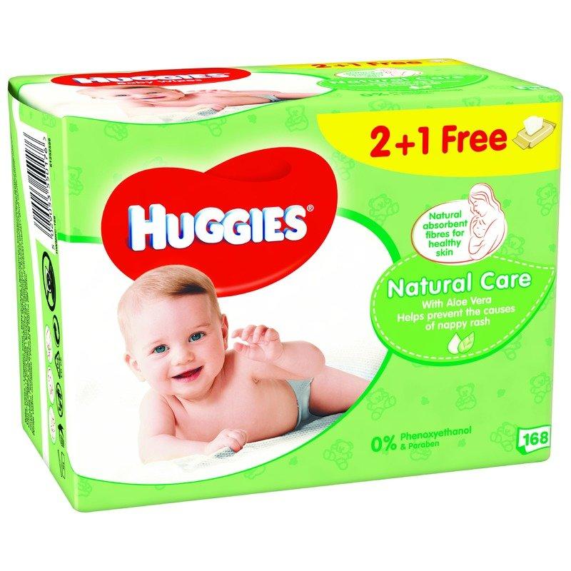 Servetele umede bebelusi Huggies BW Natural Care Triplo 2+1 (56x3) din categoria Scutece bebelusi de la Huggies