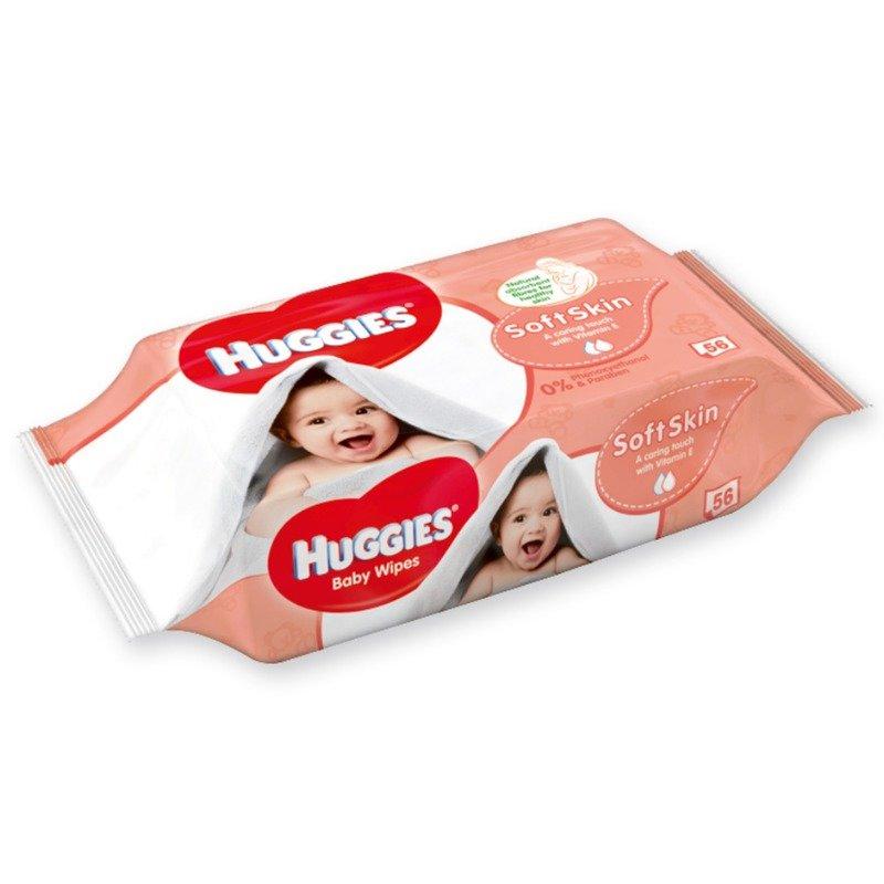 Servetele umede bebelusi Huggies BW Soft Skin 56 buc