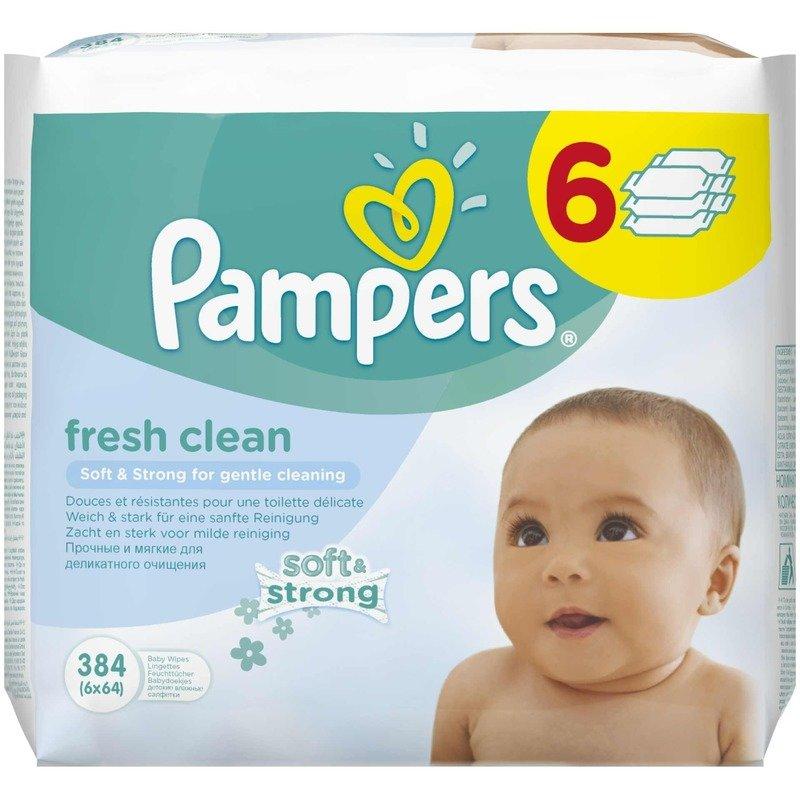 Servetele umede Pampers Baby Fresh 6×64 buc din categoria Scutece bebelusi de la Pampers