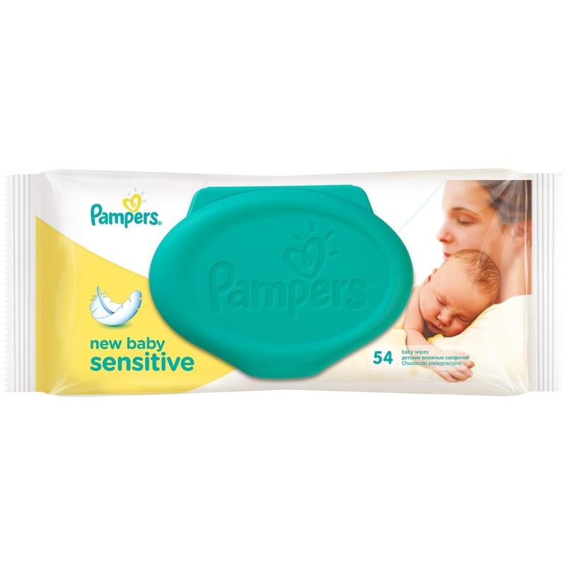 Servetele umede Pampers New Baby Sensitive 54 buc din categoria Scutece bebelusi de la Pampers