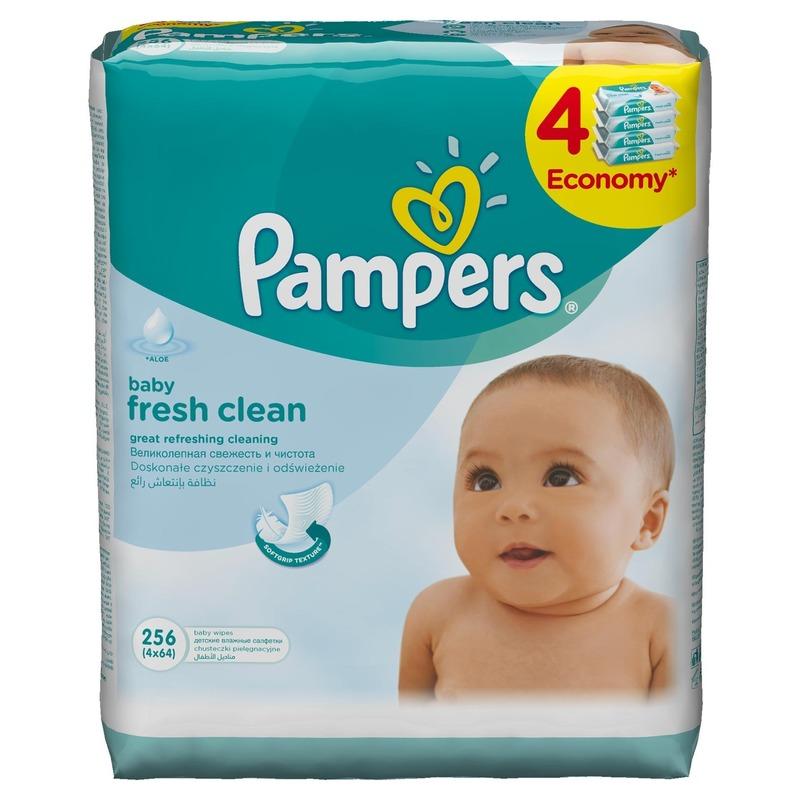 Servetele umede Pampers quattro Baby Fresh (256 buc) din categoria Scutece bebelusi de la Pampers