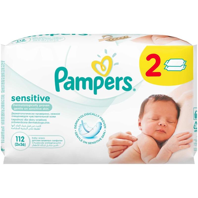 Servetele umede Pampers Sensitive 112 buc din categoria Scutece bebelusi de la Pampers