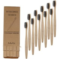In One - Set 10 periute de dinti din bambus cu ioni carbune activat  IO020