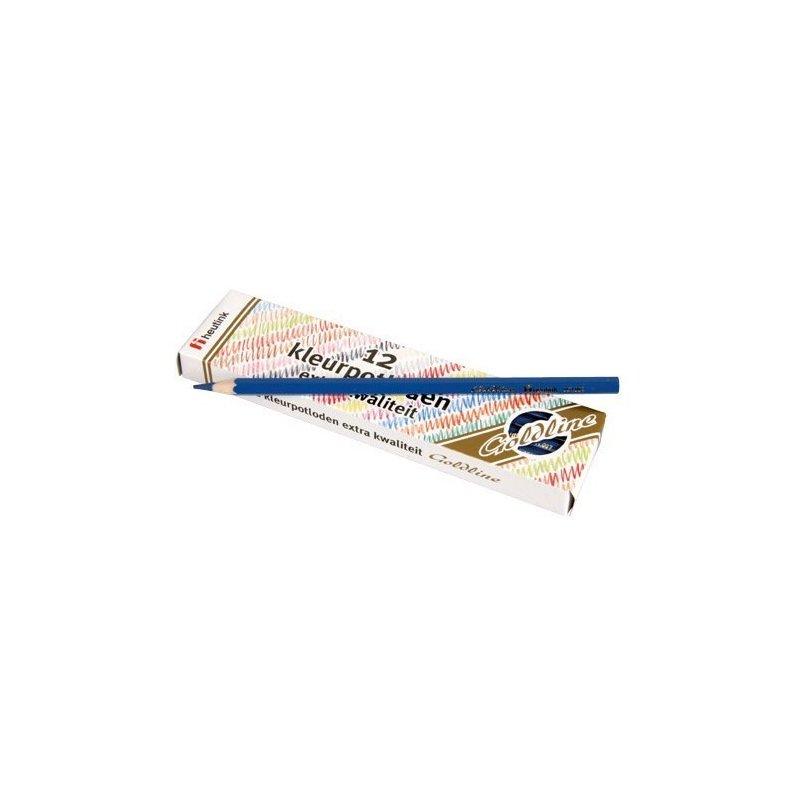 Heutink Set 12 creioane colorate Goldline 3.7 mm Albastru – Heutink din categoria Pictura si desen de la Heutink