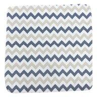 Deseda - Set 2 cearsafuri din finet 120x60 cm - zig zag albastru