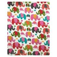 Deseda - Set 2 cearsafuri din finet 140x70 cm - elefantei roz