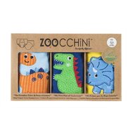 ZOOCCHINI - Set Chilotei Antrenament baiat 3 buc, Din 100% Bumbac organic Dino, Scutec textil