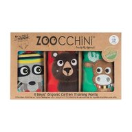ZOOCCHINI - Set Chilotei Antrenament baiat 3 buc, Din 100% Bumbac organic Forest, Scutec textil