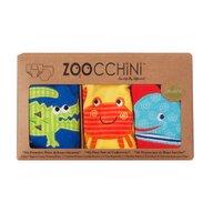 ZOOCCHINI - Set Chilotei Antrenament baiat 3 buc, Din 100% Bumbac organic Ocean, Scutec textil