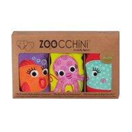 ZOOCCHINI - Set Chilotei Antrenament fetita 3 buc, Din 100% Bumbac organic Ocean, Scutec textil