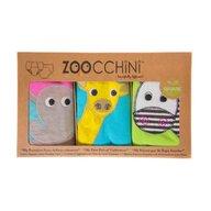 ZOOCCHINI - Set Chilotei Antrenament fetita 3 buc, Din 100% Bumbac organic Safari, Scutec textil