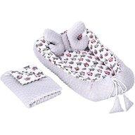 Infantilo - Suport de dormit 3 in 1 Bufnite Minky, Gri/Roz