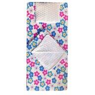Deseda - Set 3 piese de iarna paturica cu cearsaf si pernuta pentru pat 120x60 cm  Floricele