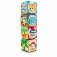 Smily Play - Cuburi Set 4 piese Senzoriale moi