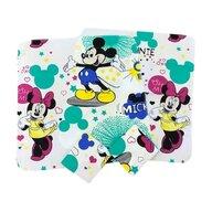 Deseda - Set 4 scutece finet  70x70cm  Mickey Mouse pe alb