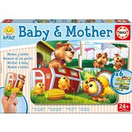 Educa - Set 6 Puzzle Baby and Mother 2 piese