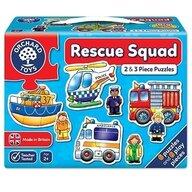 Orchard Toys - Set 6 puzzle Echipa de salvare, 2 si 3 piese