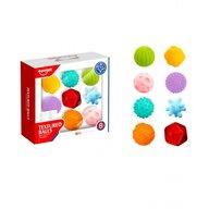 Huanger - Set Mingi soft 8 bucati, Cu texturi si culori diferite, Multicolor