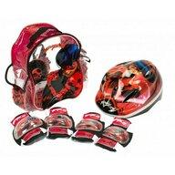Saica - Set accesorii protectie pentru bicicleta, role, trotineta, Ladybug Buburuza Miraculoasa