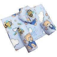 Deseda - Set antiregurgitare si pozitionare cu plan inclinat pentru bebelusi  Ursi cu albine pe albastru