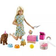 Barbie - Papusa  by Mattel Puppy Party Cu accesorii, Cu figurina