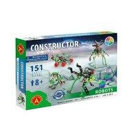 Alexander Constructor - Set constructie 151 piese metalice Constructor Roboti 4in1, Alexander