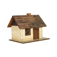 Walachia - Set constructie arhitectura Cabanuta din busteni, 64 piese din lemn,