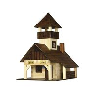 Walachia - Set constructie arhitectura Refugiu montan, 135 piese din lemn,