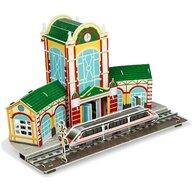 Fiesta Crafts - Puzzle 3D Gara tren Puzzle Copii, piese 63