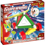 Supermag - Set constructie Tags Wheels, 50 piese