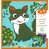 Djeco - Set creativ de razuit, Animale prietenoase