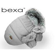 Sac termic de iarna Pentru carucior Bexa, Cu blanita si interior fleece, Cu manusi, Gri