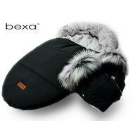 Bexa - Sac termic de iarna Pentru carucior , Cu blanita si interior fleece, Cu manusi, Negru