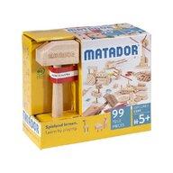 Matador - Set cuburi de constructie din lemn Explorer 99 piese, +5 ani,