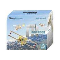 Matador - Set cuburi de constructie din lemn Explorer World Planes, +5 ani,