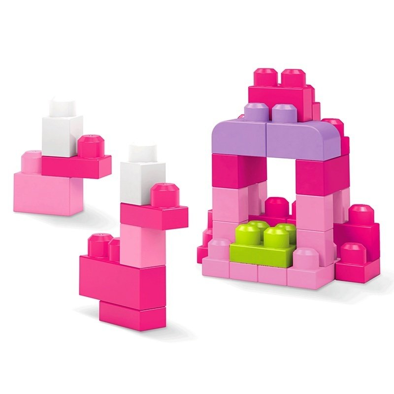 Set cuburi de construit Mega Bloks – 60 de bucati pentru fetite Fisher-Price din categoria Seturi constructii si cuburi de la Fisher-Price