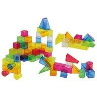 TickiT - Cuburi 50 buc, Transparente, Colorate din Plastic