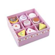 New Classic Toys - Set de 9 prajituri in cutie de cadou