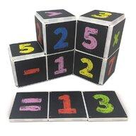 CreateOn - Set de constructie Magnetic Numere pe tabla 123 16 piese Magna-Tiles