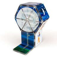 CreateOn - Set de constructie Magnetic Tati te rog adu-mi luna de pe cer 16 piese, By Eric Carle Magna-Tiles