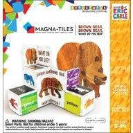 CreateOn - Set de constructie Magnetic Ursule brun tu ce vezi? 16 piese, By Eric Carle Magna-Tiles