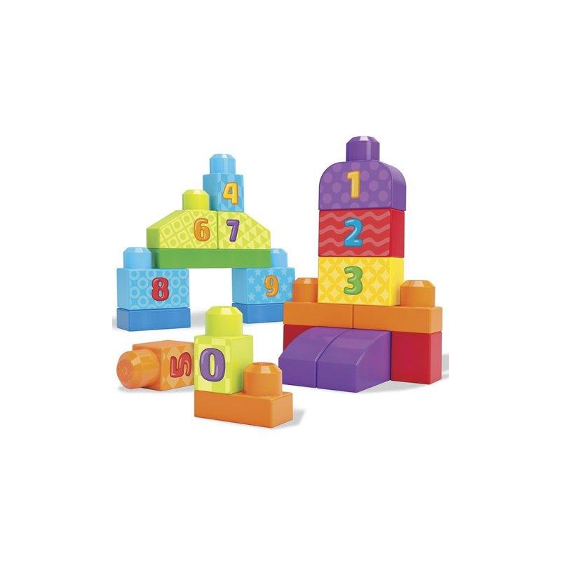Set de construit cu numere Mega Bloks – 20 de piese din categoria Seturi constructii si cuburi de la Fisher-Price