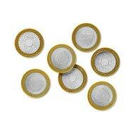 Learning Resources - Accesoriu Set de monede de jucarie 2 buc, Lire sterline