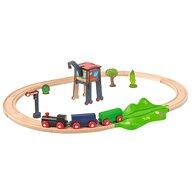 Eichhorn - Tren din lemn Cu sina ovala Cu accesorii
